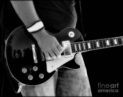 Gibson Les Paul Guitar  Print by Randy Steele