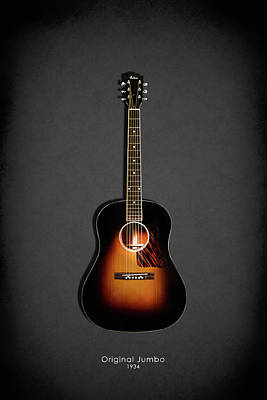 Acoustic Guitar Photograph - Gibson Original Jumbo 1934 by Mark Rogan
