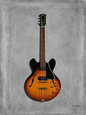 Guitar Photograph - Gibson Semi Hollow Es330 by Mark Rogan