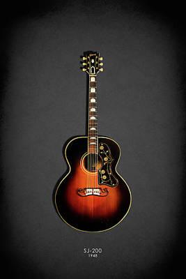 Acoustic Guitar Photograph - Gibson Sj-200 1948 by Mark Rogan