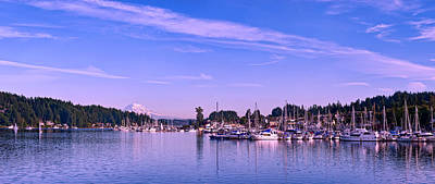 Clouds Photograph - Gig Harbor Bay by Dan Mihai