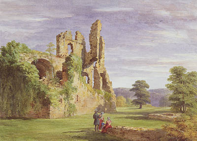 Pasture Scenes Drawing - Gight Castle, 1851 by James Giles