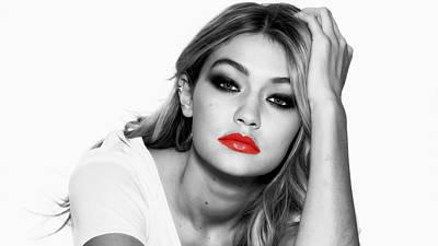 Taylor Swift Mixed Media - Gigi Hadid 1c by Brian Reaves