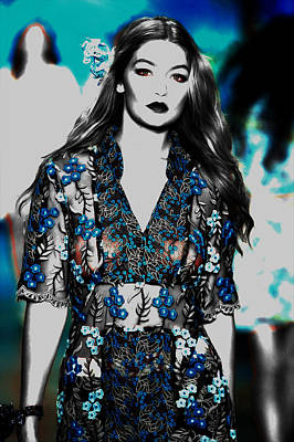 Taylor Swift Mixed Media - Gigi Hadid 1e by Brian Reaves