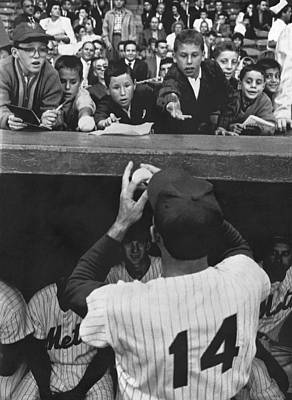 Baseball Uniform Photograph - Gil Hodges Baseball Fans by Underwood Archives