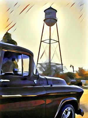 Gilbert Arizona Water Tower Print by Karyn Robinson