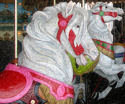 Gillian Digital Art - Gillians Carousel Horse by Kevin  Sherf