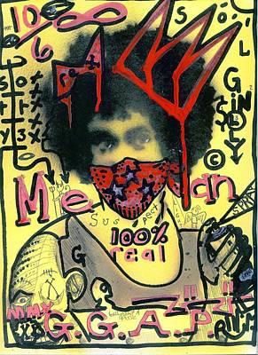 Folk Art Mixed Media - Gillys Got A Posse by Robert Wolverton Jr