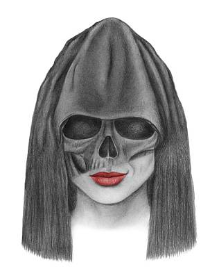 Dark Evil Scary Drawing - Gimme A Kiss by Drawings Drawer