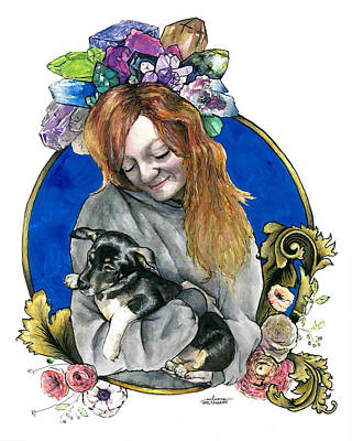Wicca Painting - Ginger And Her Lovelies by Arleana Holtzmann