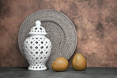 Porcelain Photograph - Ginger Jar With Pears I by Tom Mc Nemar