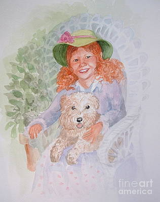 Wicker Chair Painting - Ginger by Marilyn Smith