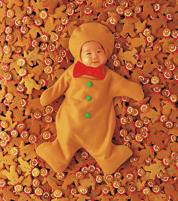 Merry Christmas Photograph - Gingerbread Baby by Anne Geddes