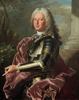 Men Painting - Gio Francesco II Brignole-sale by Hyacinthe Rigaud