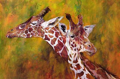 Giraffe Painting - Giraffe by Odile Kidd