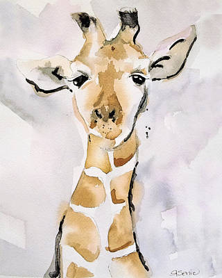 Giraffe Drawing - Giraffe by Roleen Senic