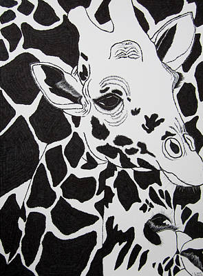 Giraffe World Print by Jungsu Lim