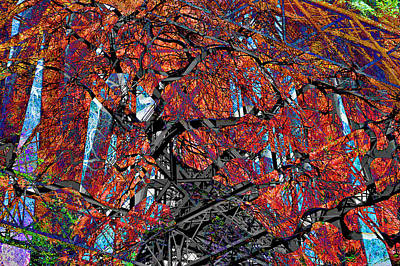 Digital Art - Girder Treed Abstract by Mary Clanahan