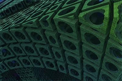 Tessellation Digital Art - Girders by Lyle Hatch
