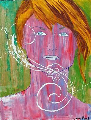 Girl 13 Print by Josean Rivera