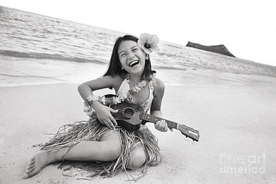 Hula Girl Art Photograph - Girl And Her Ukulele by Brandon Tabiolo - Printscapes