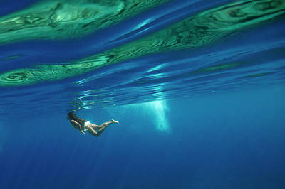 Diving Photograph - Girl And Water by Rico Besserdich