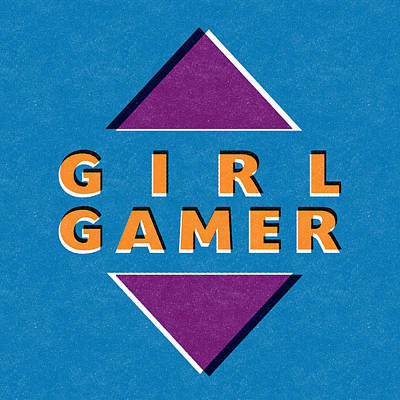 Girl Gamer Print by Linda Woods