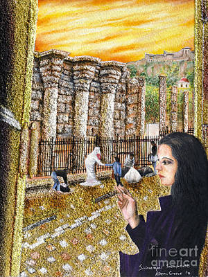 Painting - Girl In Athens by Fine art Photographs