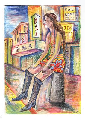 Girl Painting - Girl by Milen Litchkov