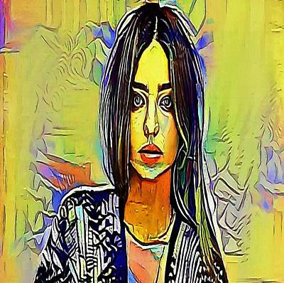 girl - My WWW vikinek-art.com Print by Viktor Lebeda