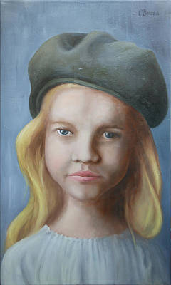 Youthful Painting - Girl With Hat by Cristina Bercea