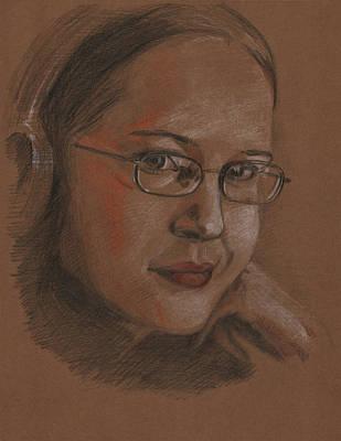 Girl With Headphones Original by Masha Batkova