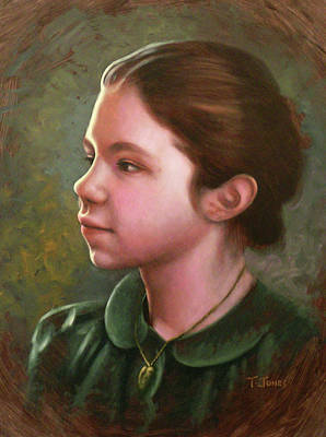 Locket Painting - Girl With Locket by Timothy Jones