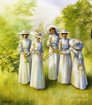 Trombone Painting - Girls In The Band by Jane Whiting Chrzanoska