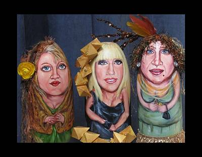 Drag Mixed Media - Girls Night Out by Cathi Doherty