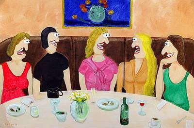 Girls Night Out Print by Sal Marino
