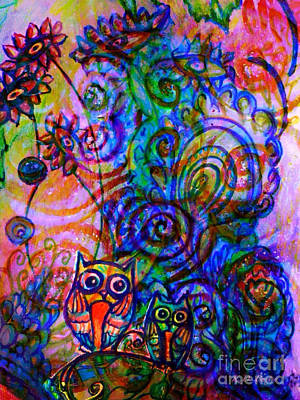 Give A Whoot In This Crazy Wild World Print by Kimberlee Baxter