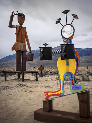 Welded Art Photograph - Give And Take by Steve Spiliotopoulos