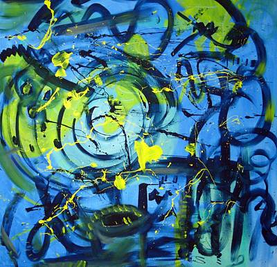 Energetic Painting - Give It A Whirl by Rebecca Merola