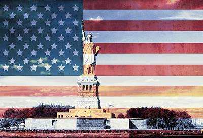 Statue Of Liberty Mixed Media - Give Me Liberty by Dan Sproul
