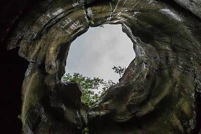 Glacial Pothole Inside 1 Print by John Brueske