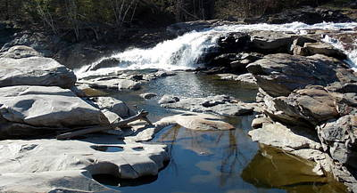 Glacial Potholes At Shelburne Falls  Print by Catherine Gagne
