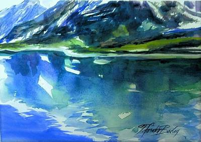 Painting - Glacier Bay From Oosterdam by Therese Fowler-Bailey
