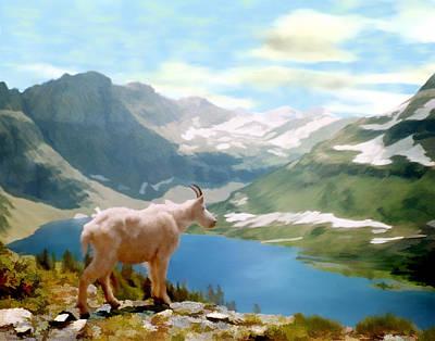 Goat Digital Art - Glacier National Park by Kurt Van Wagner