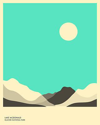 Glacier National Park, Lake Mcdonald Print by Jazzberry Blue