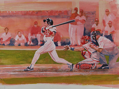 Sports Artist Painting - Gladden's Grand Slam by Steven Paul Carlson