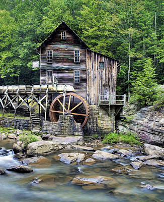 Grist Mill Photograph - Glade Creek Grist Mill In West Virginia Hdr by Brendan Reals