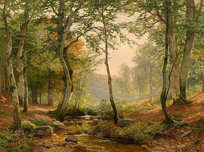 Glade Creek Painting - Glade With Torrent by Mountain Dreams
