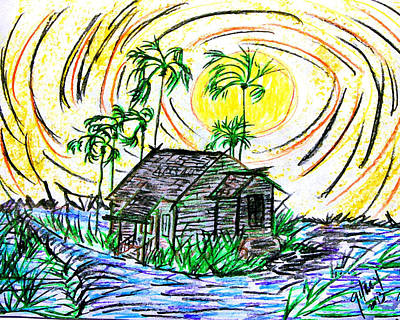 Key West Painting - Glades House by W Gilroy