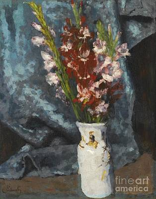 Gladiolus Painting - Gladioli by Celestial Images